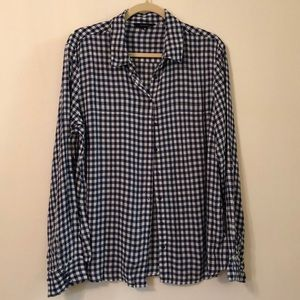 Tops - Stitchfix Paradigma XL navy/white check shirt